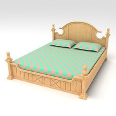 Bed Cot 02 3D Model