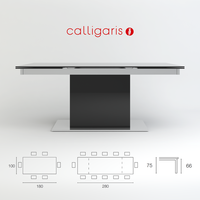 Free Table Park Glass CS/4039-GR Calligaris 3D Model