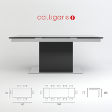 Table Park Glass CS/4039-GR Calligaris 3D Model
