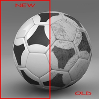 Soccerball black white tri 3D Model