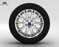 Ford Focus Wheel 16 inch 001 3D Model