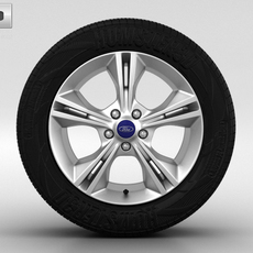 Ford Focus Wheel 16 inch 002 3D Model