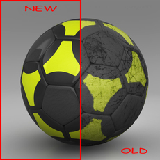 Soccerball black yellow 3D Model