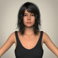 Realistic Beautiful Young Teen Female 3D Model