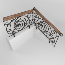 Stair railing 3D Model