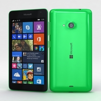 Microsoft Lumia 535 and Dual SIM Green 3D Model