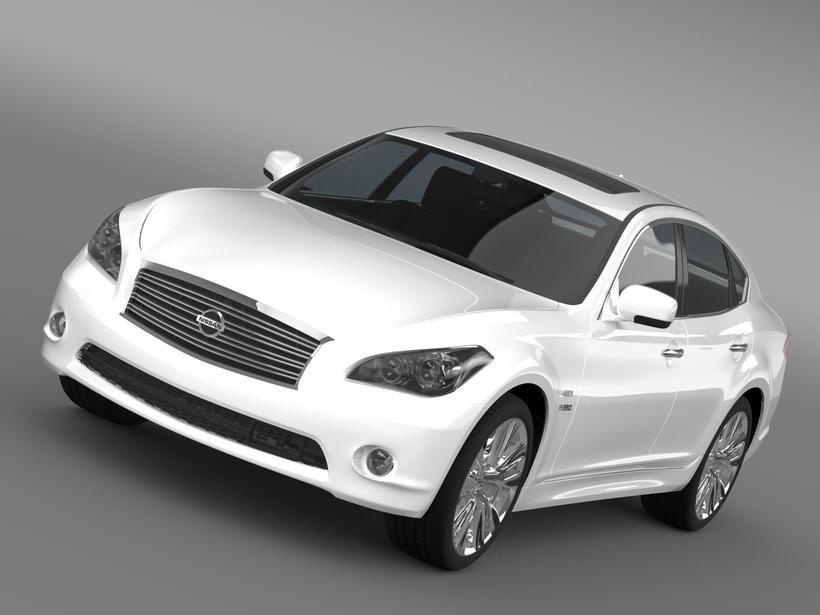 Nissan Fuga Hybrid (Y51) 3D Model