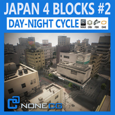 Japan 4 Blocks Set2 3D Model