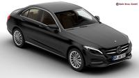 Mercedes C Class 2015 2 Versions 3D Model