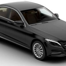 Mercedes C Class 2015 2 Versions 3D Model