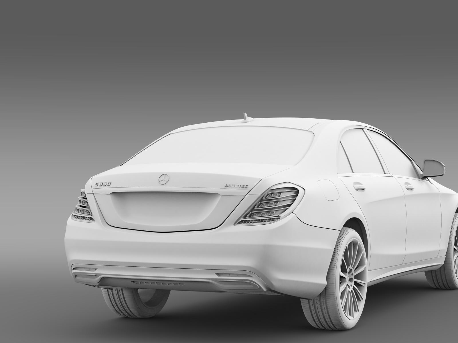 Amg mercedes benz s 350 bluetec w222 2013 3d model for Mercedes benz s 350