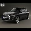 Mini Cooper convertible 2014 3D Model