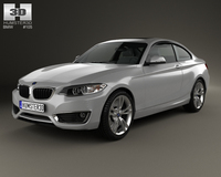 BMW 2 Series coupe (F22) 2014 3D Model