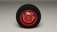 Mercedes 300SL Wheel 3D Model
