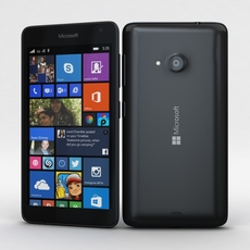 Microsoft Lumia 535 and Dual SIM Black 3D Model