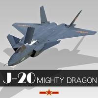 Chengdu J-20 3D Model