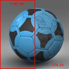 Soccerball blue black 3D Model