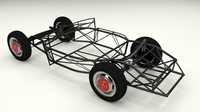 Mercedes 300SL Chassis 3D Model