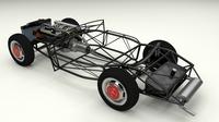 Full Mercedes 300SL chassis 3D Model