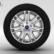 Ford Focus Wheel 16 inch 004 3D Model