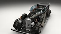 Mercedes 770k Grosser Nazi Staff Car 3D Model