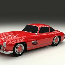 Rigged Mercedes 300SL W198 3D Model