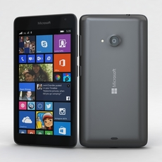 Microsoft Lumia 535 and Dual SIM Gray 3D Model