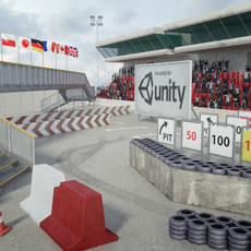 Race Track Construction Kit: Add-on Pack A 3D Model