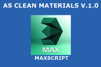 AS Clean materials for 3dsmax 1.0.0 (3dsmax script)