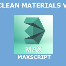 AS Clean materials for 3dsmax 1.0.0 (3dsmax script)
