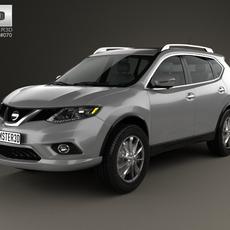 Nissan Rogue 2014 3D Model