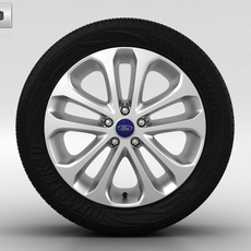 Ford Focus Wheel 17 inch 001 3D Model