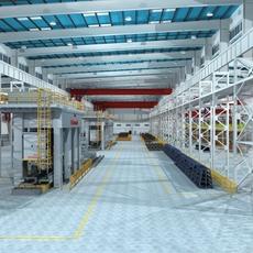 Factory Interior Scene02 3D Model