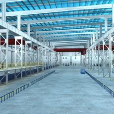 Factory Interior Scene01 3D Model