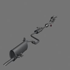 Car Exhaust System 3D Model