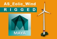 Free eolic_wind_0.6 rigged 3D Model