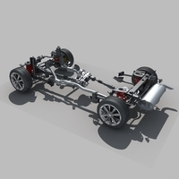 Car Suspension 3D Model