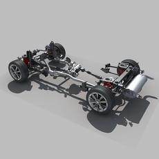 Car Suspension 3D Model