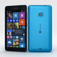 Microsoft Lumia 535 and Dual SIM Blue 3D Model