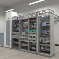 Telecom Power Center Room 3D Model