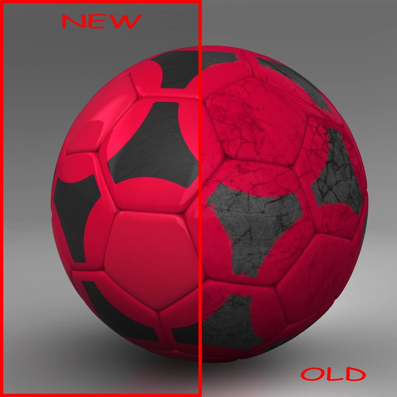 Soccerball red black 3D Model