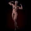 Short blonde hair bodybuilding woman 3D Model