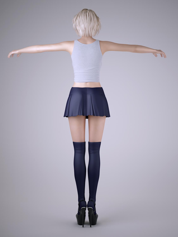 3d model of blonde - photo #44