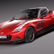 Mazda MX-5 2016 CUP Race Car 3D Model