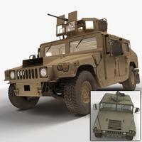 HMMWV Military Humvee 3D Model