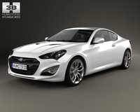 Hyundai Genesis (Rohens) coupe 2012 3D Model