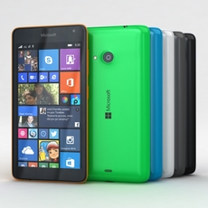 Microsoft Lumia 535 and Dual SIM All Colors 3D Model