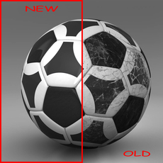 Soccerball black white triangles 3D Model