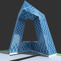 CCTV China Central Television Headquarters 3D Model