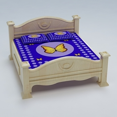 Bed Cot 04 3D Model